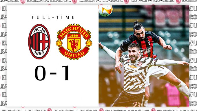 Skor akhir AC Milan 0-1 Manchester United