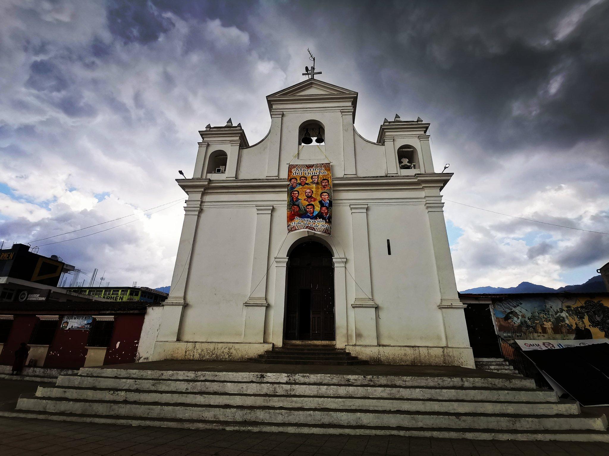 Iglesia católica en el Parque de Nebaj