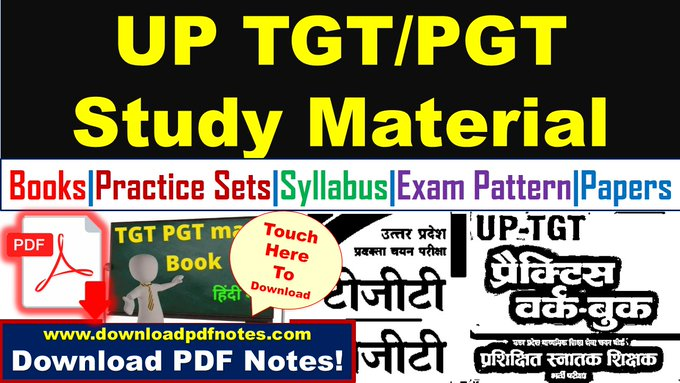[Download] UP TGT PGT Syllabus, Exam Pattern, Practice Sets and Mock tests | Free pdf