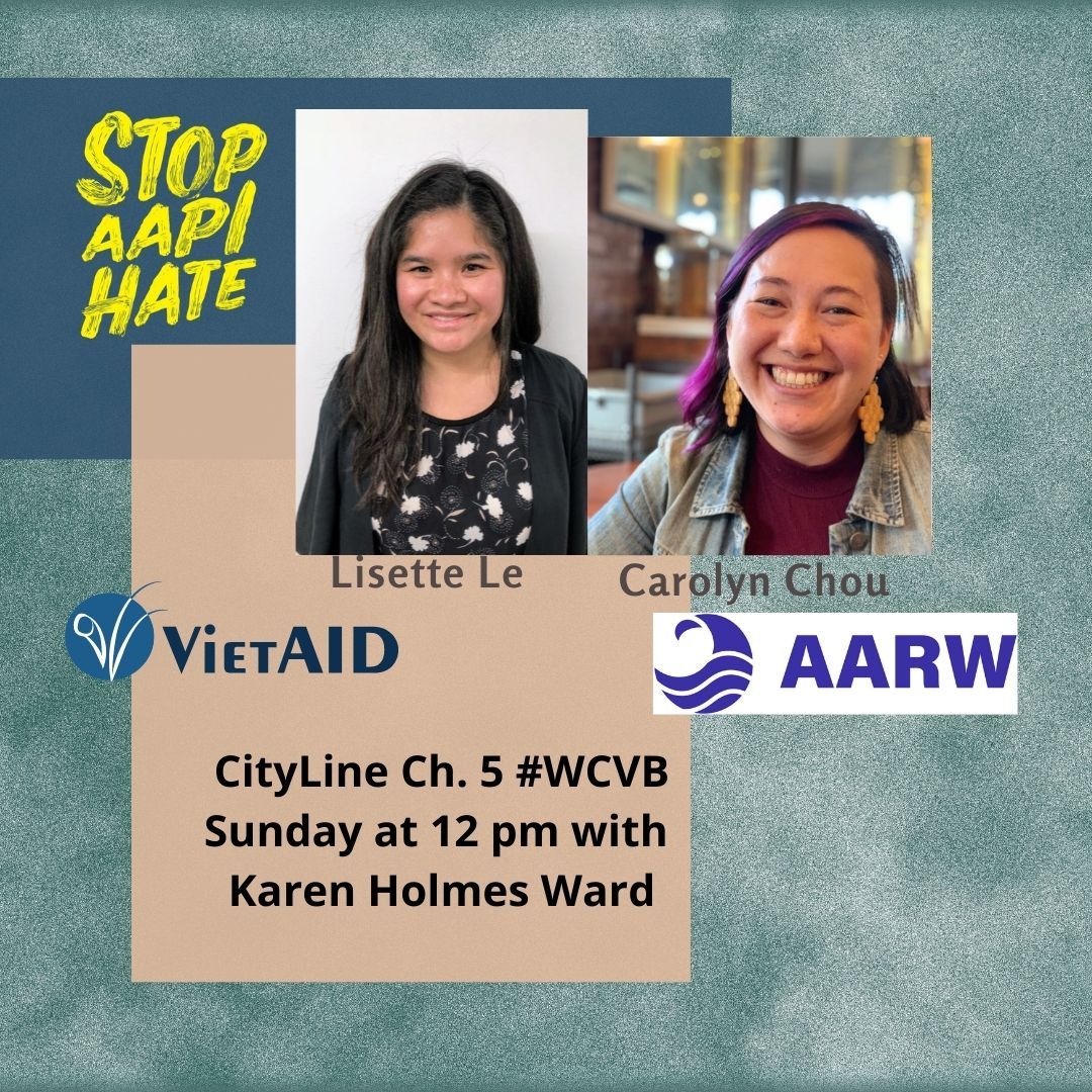 Tune in on Sunday to hear our ED discuss how we're combating anti-Asian discrimination.