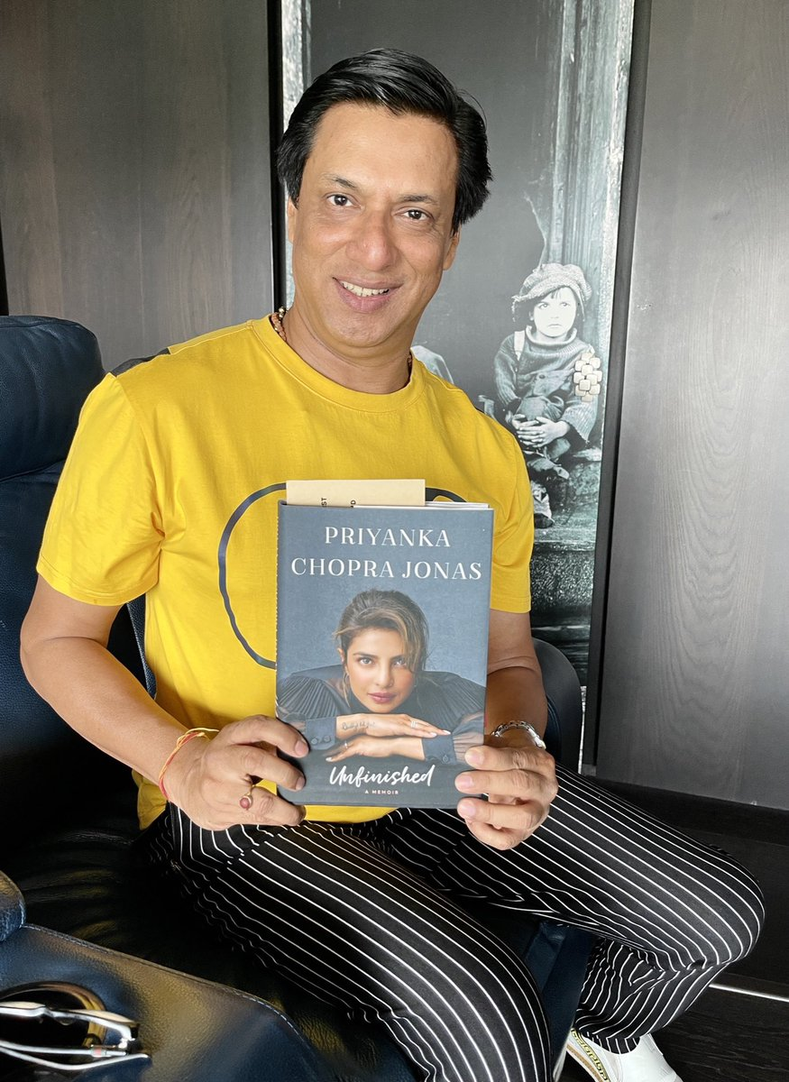 "Thank you @priyankachopra for sending your book, Excited to know more about your journey & hard work in ""Unfinished"" Keep the Global Jalwa on. ❤️👍🙏"