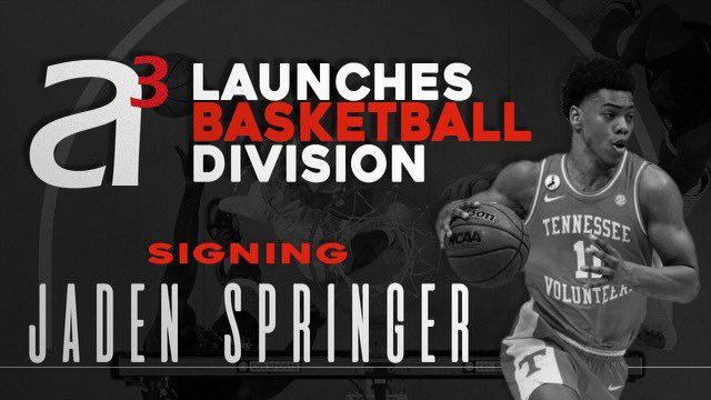 Really excited about this!  We are back in basketball!  Welcome to the family @jadenspringer11 The best is yet to come! #NBA #NBADraft #A3Basketball #A3family https://t.co/5oqEHt58gj