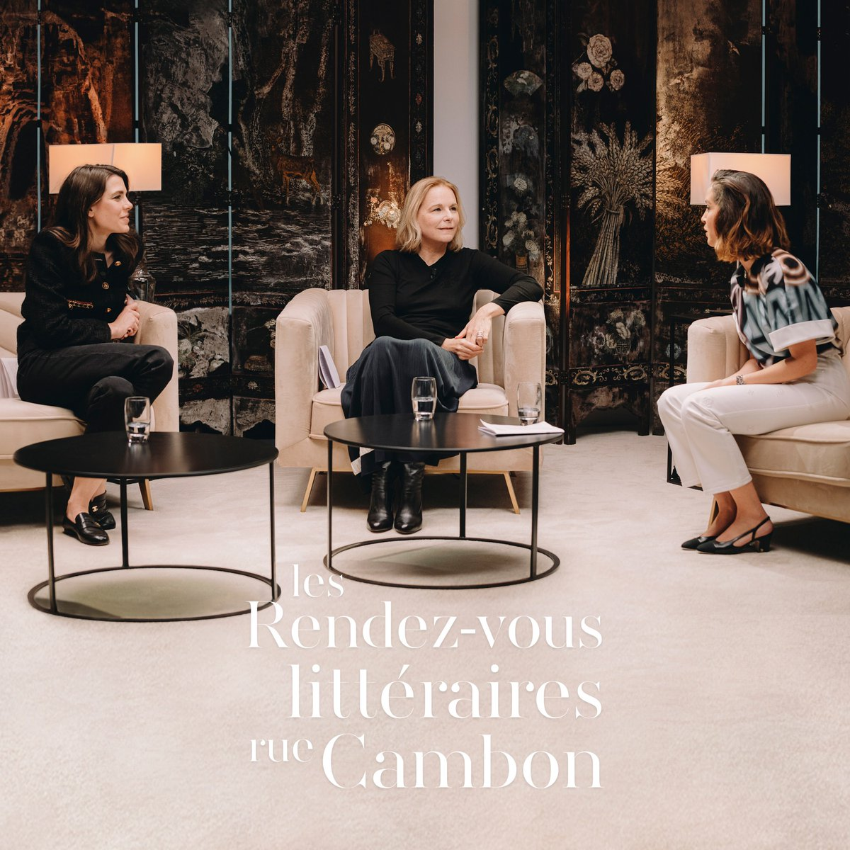 For the second edition of the Rendez-vous littéraires rue Cambon, CHANEL and Charlotte Casiraghi have invited the writer Camille Laurens alongside the actress Lyna Khoudri and the literary historian Fanny Arama. See more at  #CHANELRendezvousLitteraires
