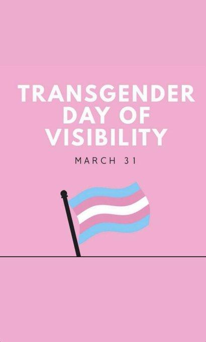 #TransDayOfVisibility #TransIsBeautiful https://t.co/CaU6H4IqbW