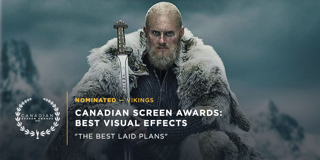 Fun fact - the @HistoryVikings VFX Team has been nominated for Best Visual Effects at @TheCdnAcademy #CSAs for every single season of Vikings since the show first aired! This is their 8th nomination, with 7 wins under their belt 🥳