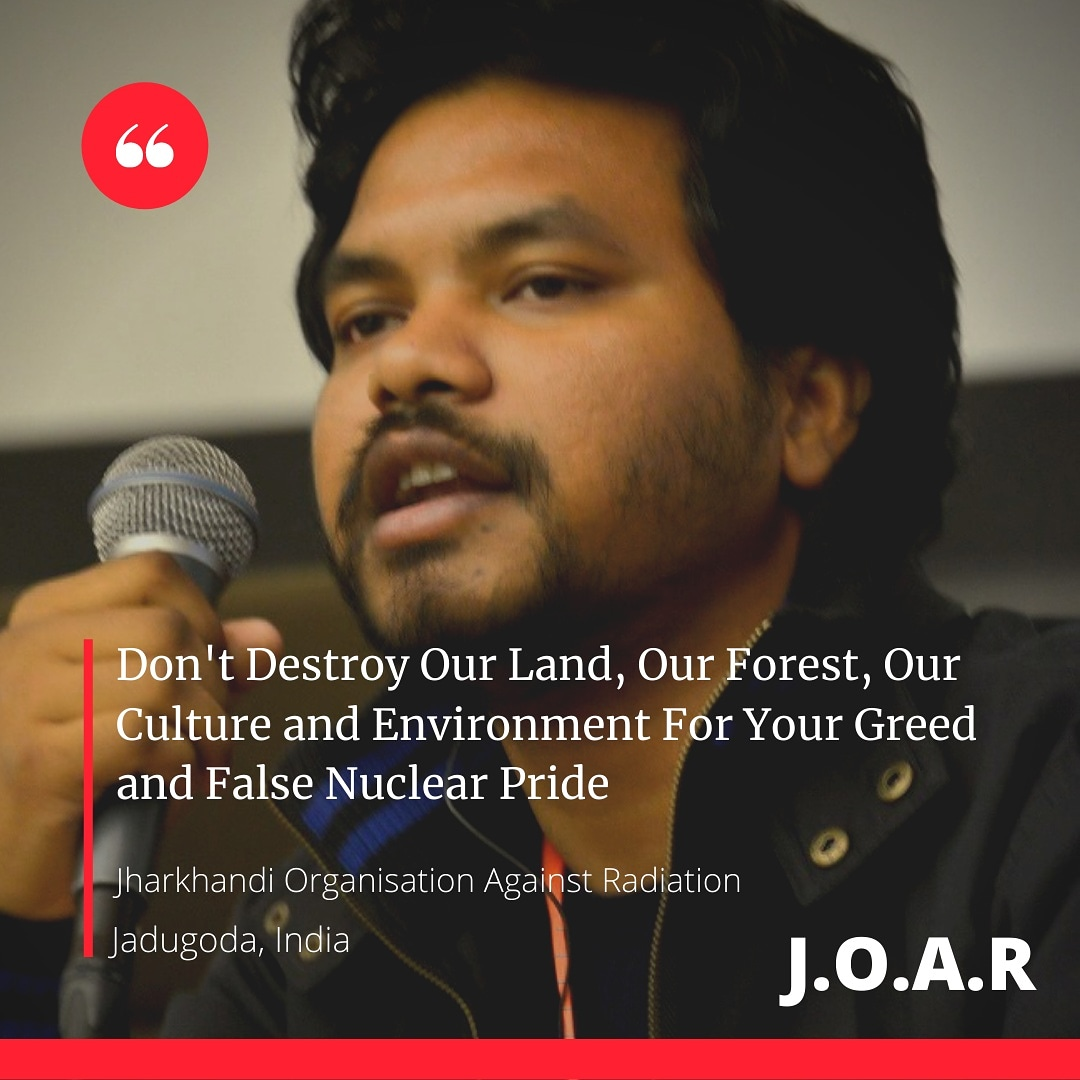 Don't Destroy Our Land, Our Forest, Our Culture and Environment For Your Greed and False Nuclear Pride @nuclearban @GretaThunberg @AdivasisMatter @fffjharkhand @GBirulee @NeetishaXalxo @AdivaasiD @adivasi_bot https://t.co/Ej6x2JMOBd