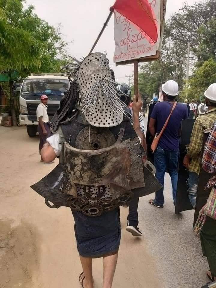 A bulletproof vest of a citizen in Tangse City today. This bulletproof vest proves how much the people of Myanmar are willing to fight for  democracy. UNSC ACT NOW #WhatsHappeningInMyanmar  #MilkTeaAlliance  #forceavote  #Mar31Coup https://t.co/4zZNwbbs1Q