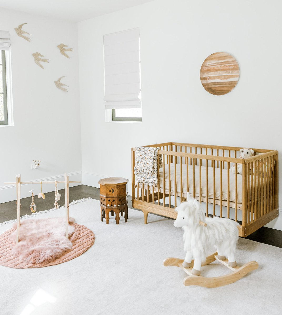 Juju's nursery ✨ I had so much fun designing this space for Jupiter and I'm so excited to finally share it with you all! Tap the link below to hear all about how I landed on this calming, grounding, minimalistic space for our little girl.