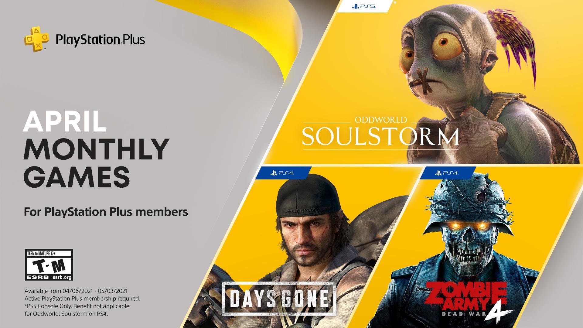 PS Plus Free Games April 2021