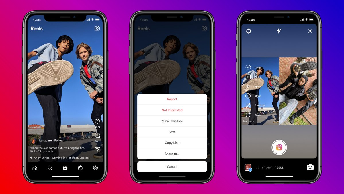 Re-re-re-remix 🤩   Now you can use the Remix feature in Reels to create your own reel next to one that already exists 🎭   Whether you're capturing your reaction, responding to friends or bringing your own magic to trends, Remix is another way to collab on Instagram ✨ https://t.co/eU8x74Q3yf
