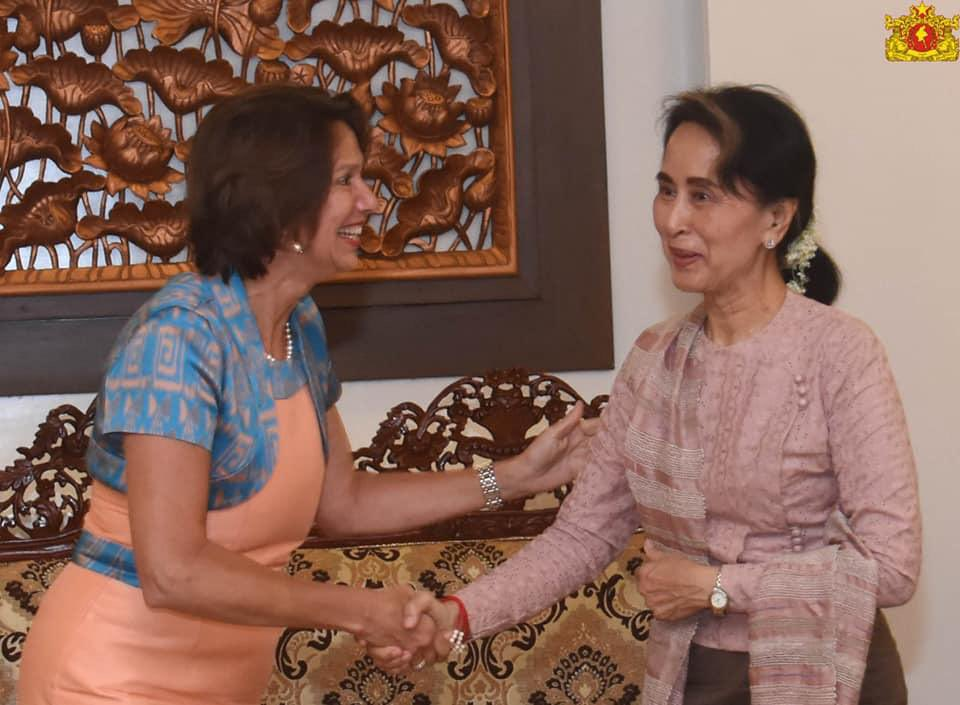 """Daw Aung San Suu Kyi was arrested 2 months ago. Yesterday, I spoke again in the Security Council for the release of her and all those arrested since the coup. """"I wish, Daw Suu, that we can soon discuss together again how to revise the constitution. Yours, Christine"""" https://t.co/JDBUimhf1e"""