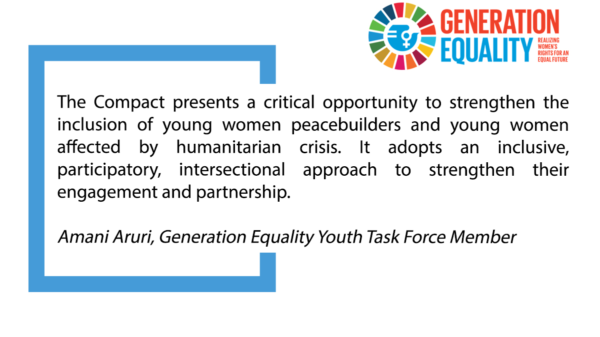 .@AruriAmani, Generation Equality @Beijing25Youth  Task Force Member during the #GenerationEquality Forum in Mexico: https://t.co/S1UgpobL3m