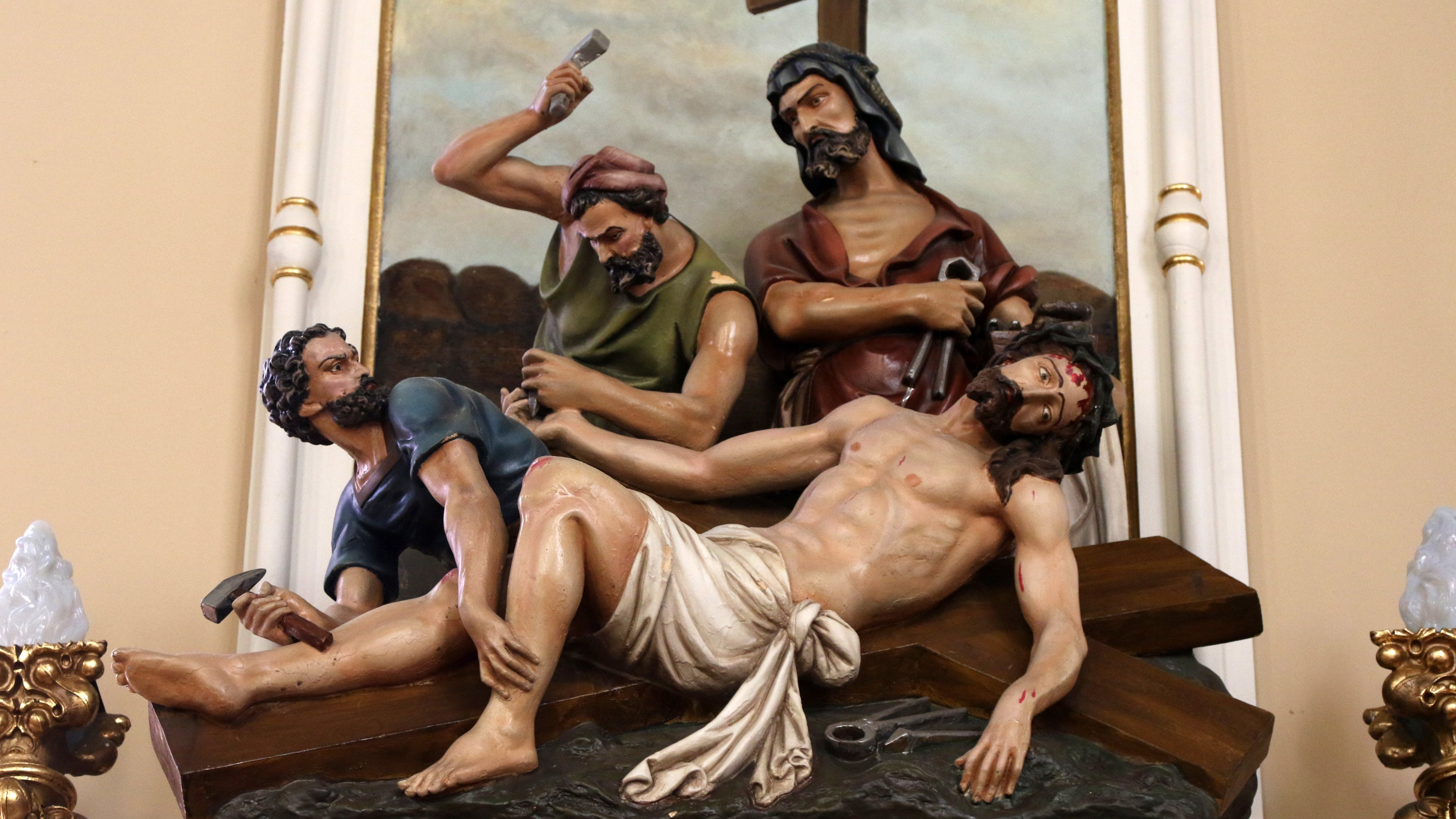 11 th Station - Jesus is Nailed to the Cross