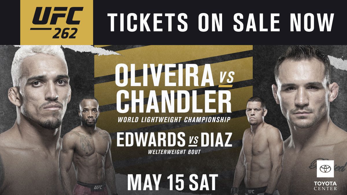 The ⭐️s are headed to Houston! #UFC262 is now on-sale.  [ ORDER NOW: https://t.co/LAK9gRLTXr ] https://t.co/WUDJL0kU5E