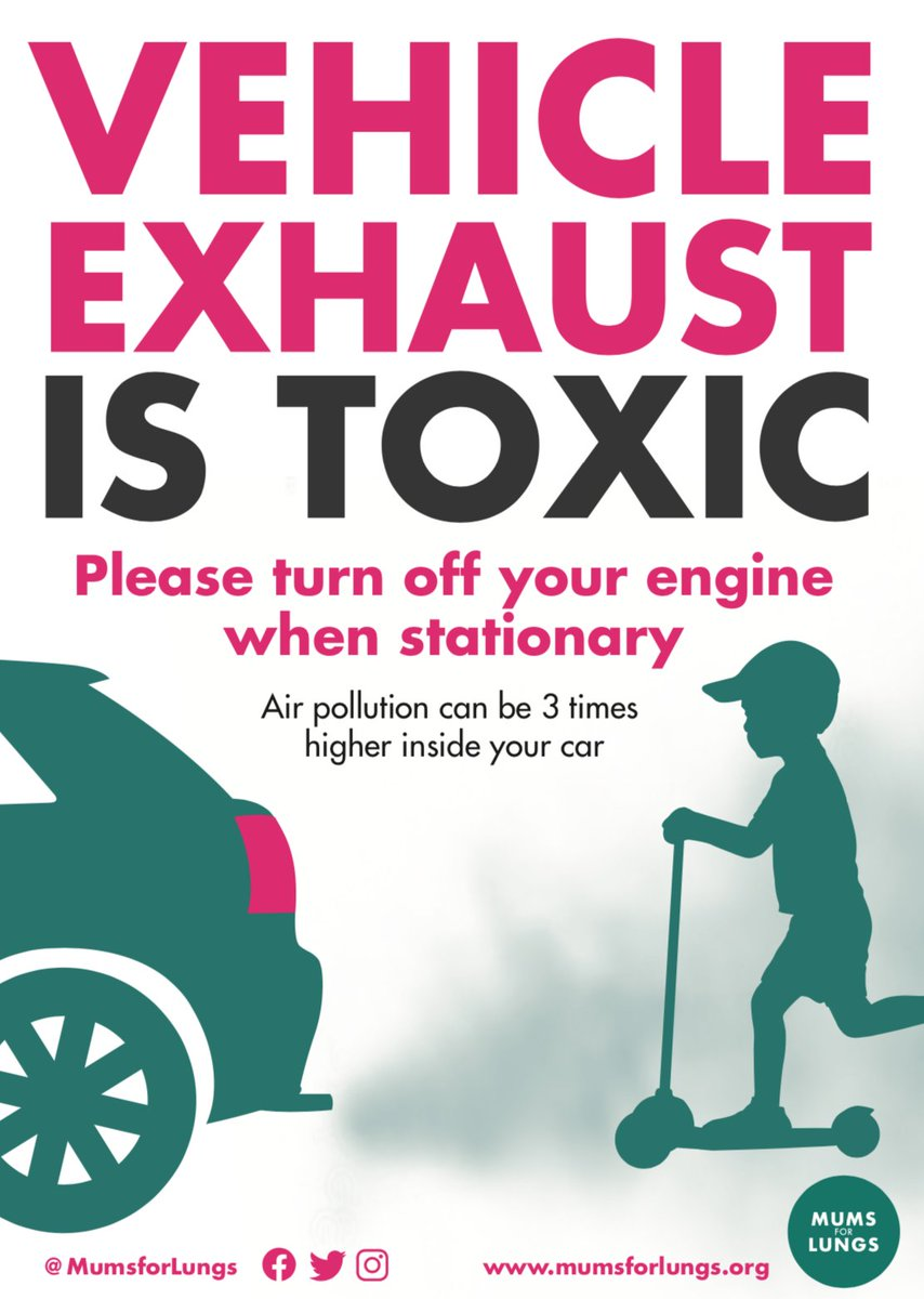 We recently redesigned our #Idling flyer. You can download a digital version 👇. Please share widely! #AirPollution #NO2Idling  bit.ly/3803zA6