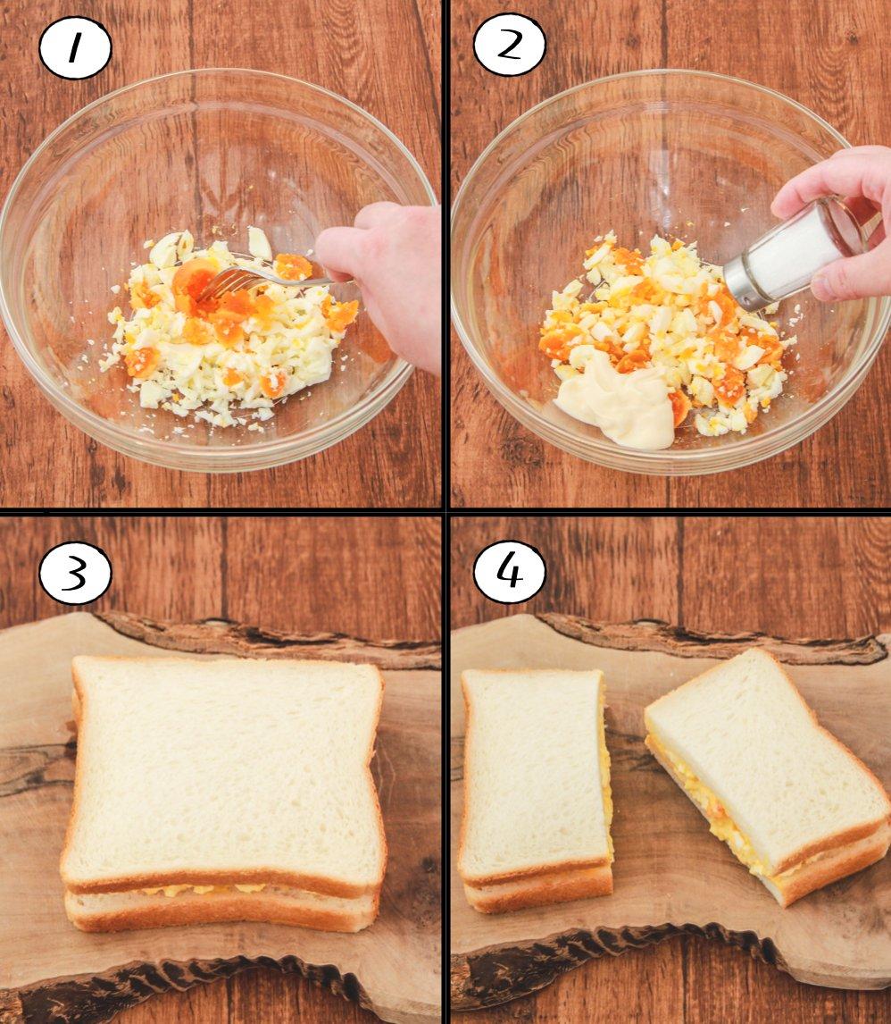 ポイントはあれを加えること?!美味しい「たまごサンド」の作り方!