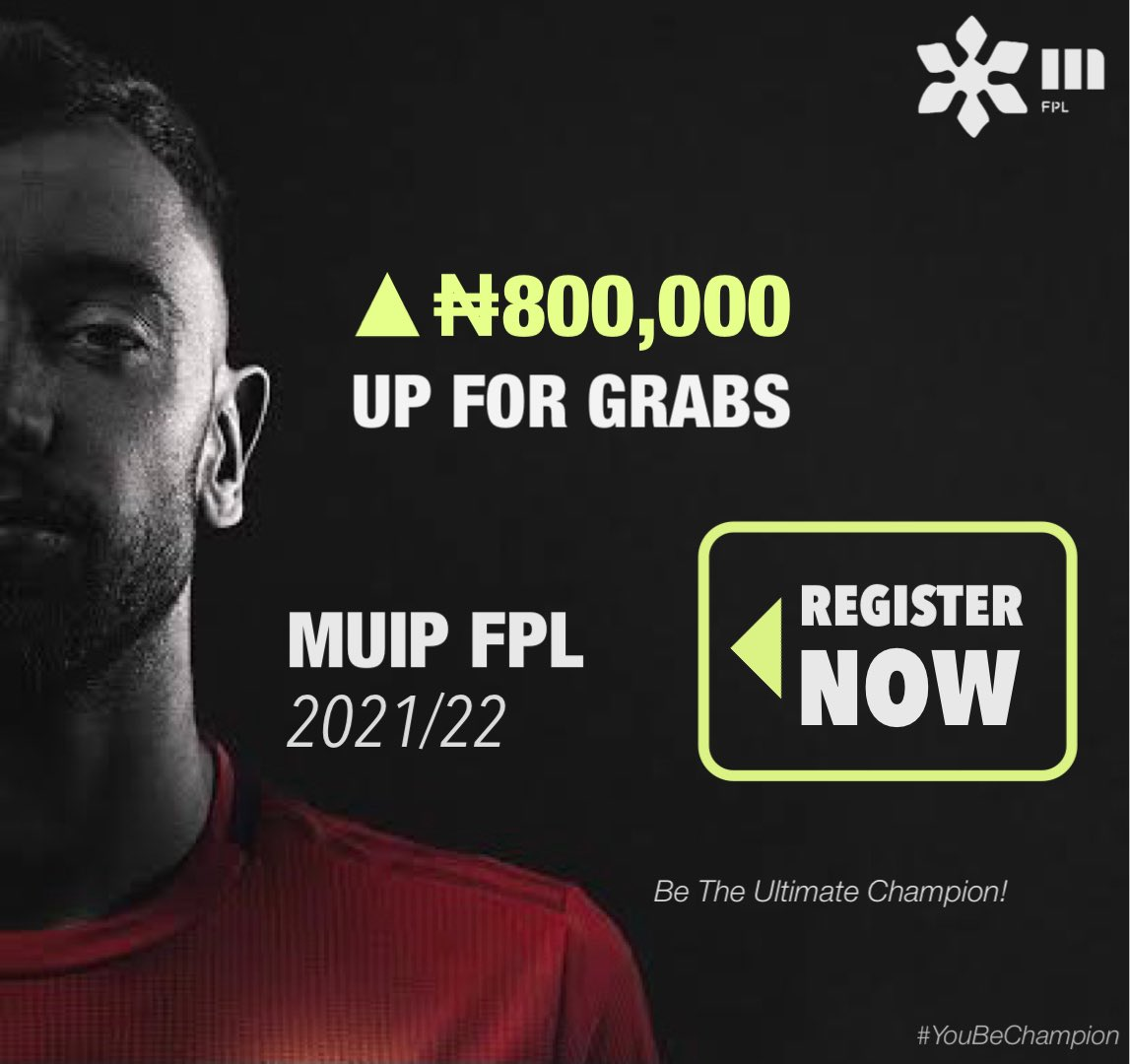 You wan battle for ₦800,000? 💵   • You refer your friends to MUIP FPL 2021/22? 𝐖𝐞 𝐠𝐨 𝐩𝐚𝐲 𝐲𝐨𝐮 ₦𝟏,𝟐𝟎𝟎 𝐩𝐞𝐫 𝐩𝐞𝐫𝐬𝐨𝐧 𝐲𝐨𝐮 𝐫𝐞𝐟𝐞𝐫.  You interested? DM @MuipFPL Now! 📨   #YouBeChampion https://t.co/I6Cs8KjRs1