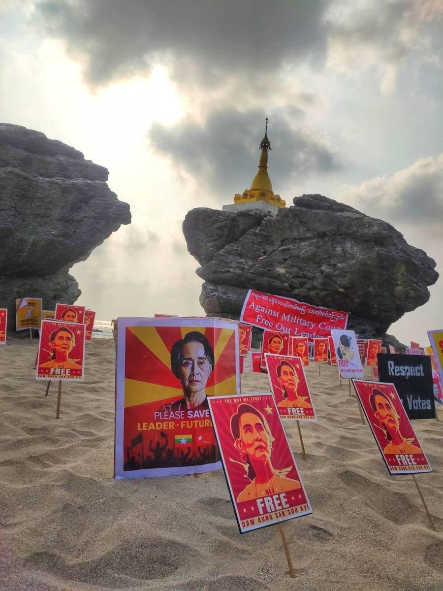 Non-human strike in NgweSaung Beach.@RapporteurUn   UNSC ACT NOW #HearTheVoiceOfMyanmar  #WhatsHappeningInMyanmar  #Mar31Coup https://t.co/31v0XbF0zX