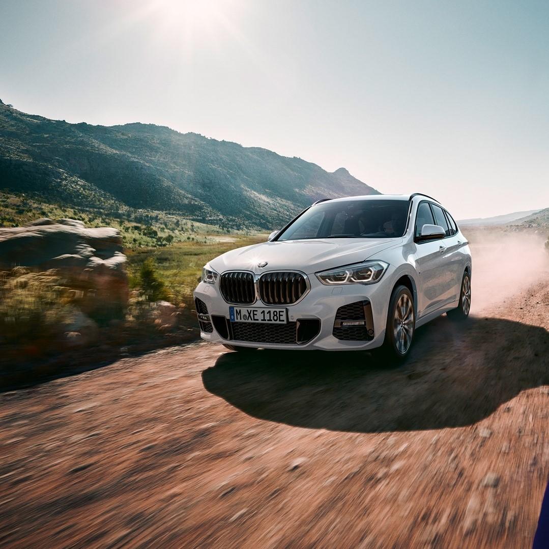 Always agile, no matter the terrain. ⛰️  #BMWX1 #BMWAGMC #BMWuae #BMW #mydubai #uae
