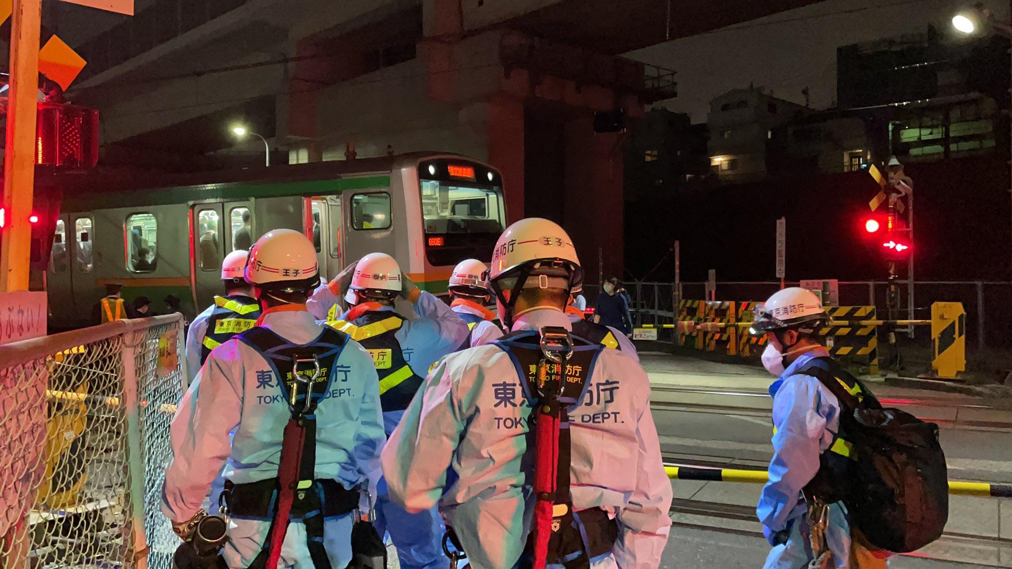 宇都宮線の人身事故現場の画像