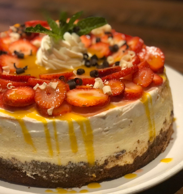 Stone Werks On Twitter Featuring Our New Citrus Grand Marnier Cheesecake With Strawberries And Mango Sauce Topped With Shaved White And Dark Chocolate Call In And Orders Yours For Easter