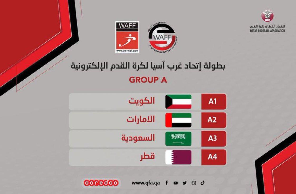 مجموعة العنابي 🇶🇦 في بطولة اتحاد غرب آسيا لكرة القدم الإلكترونية