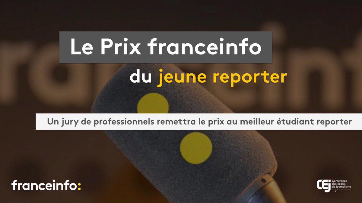Le Prix du Jeune Reporter de @franceinfo vient clôturer le Club des jeunes reporters ayant donné la parole aux étudiant·e·s en mars ! @selma_rch représentera @IPJdauphine @Paris_Dauphine @psl_univ pour son reportage sur la manifestation en soutien à Julie, victime de viol.