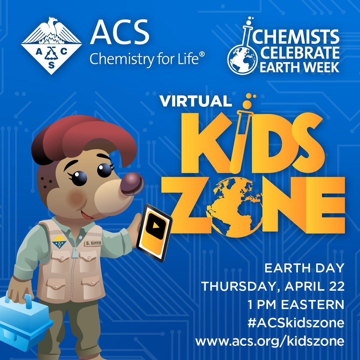 "test Twitter Media - What are you doing on April 22?  #CCEW2021 Join #chemists virtually  #ACSKidsZone ""Reducing Our Footprint with Macromolecular Chemistry."" Register: https://t.co/VjOwz7bvhe! #RyeHighChemClub @ACSChemClubs @NYSMTP #IAMNYACS @ChanaChem It is FREE! @kcmittiga84 @IBChemNinja https://t.co/7rBBvJz5Ud"