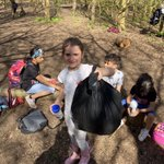 Feeling very proud of our pupils who collected 10 bags of rubbish, during our Forest School sessions, in Green Lane Park. They were very enthusiastic and all were very sad at how much rubbish people were throwing away #proudteacher #NewMalden #KingstonUponThames #GreenLanePark