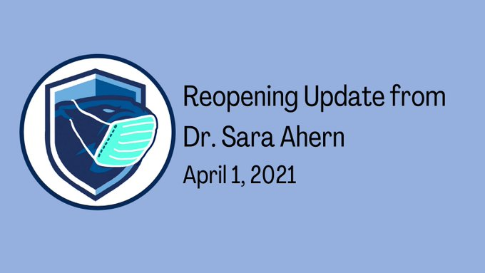 Franklin Public Schools, MA: Return to 'In Person' Update to Families - Apr 1, 2021
