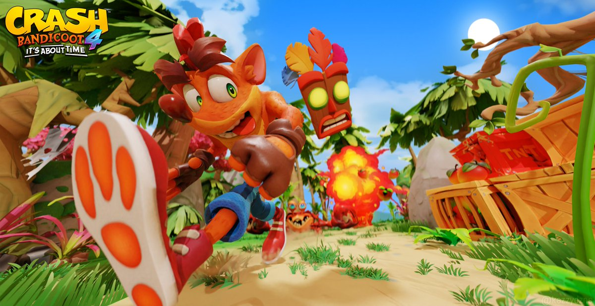 Crash Bandicoot 4: It´s About Time 🥭  Been really excited about this game and loved it so much that I decided to do a scene with it! :D   Hope yall like it, all kind of support is appreciated <3  @CrashBandicoot #Art https://t.co/FJ0sdj6nrZ