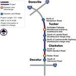 Image for the Tweet beginning: #COMMUNITYUPDATE The @GADeptofTrans I-285 Eastside