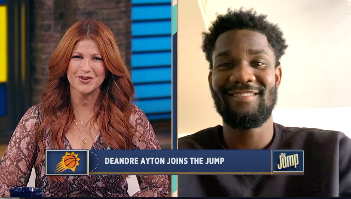 Always fun when @DeandreAyton stops by #TheJump - we discuss the @Suns 🔥🔥🔥 play of late, how @CP3 has influenced his game, plus the 🐐 he's been lucky enough to get advice from: https://t.co/Y69zPg24ll