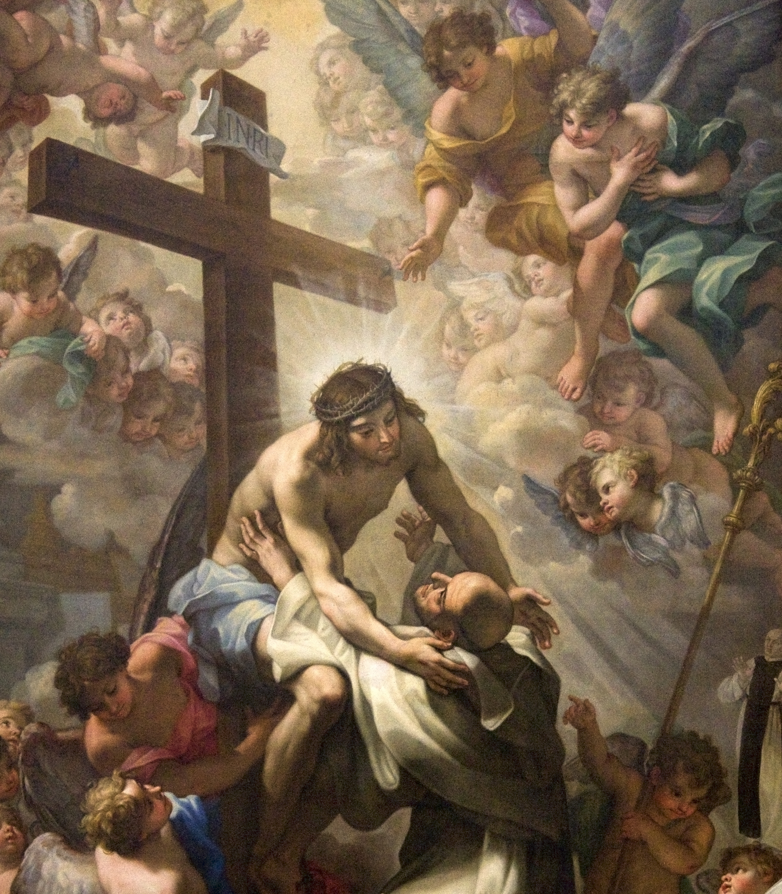 St Bernard of Clairvaux embracing the Crucified