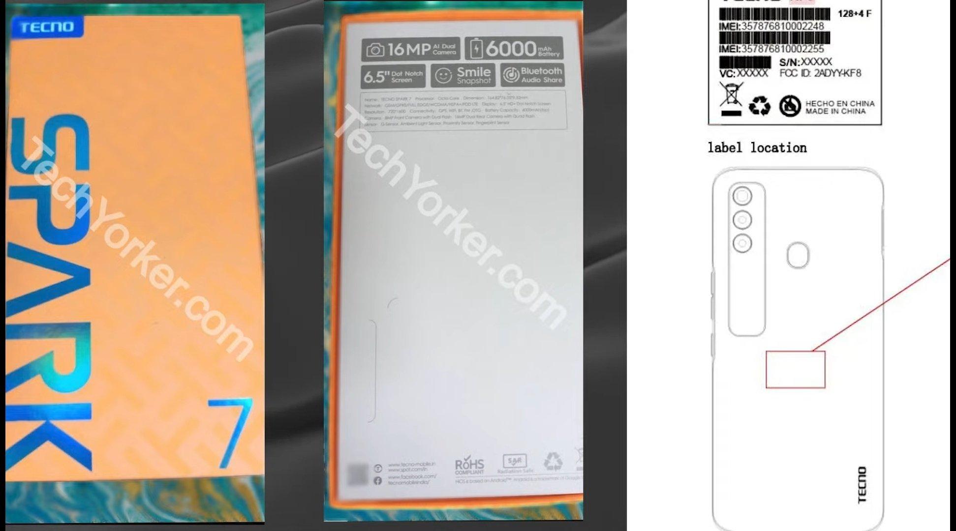 Tecno Spark 7 box