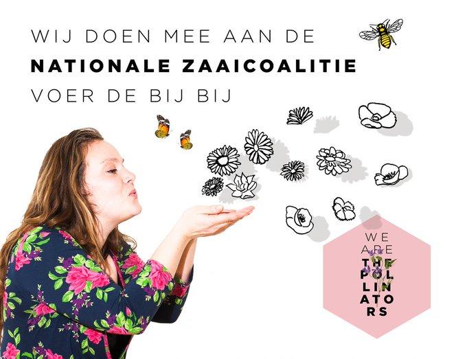 Wij doen mee aan de Nationale Zaaicoalitie van @the_pollinators. Wij vinden bestuivers en biodiversiteit belangrijk en roepen heel iedereen op te gaan zaaien op 22 april. Lees meer op https://t.co/PSosL1Vnsb #nationalezaaidag 🐝 #VoerdeBijBij