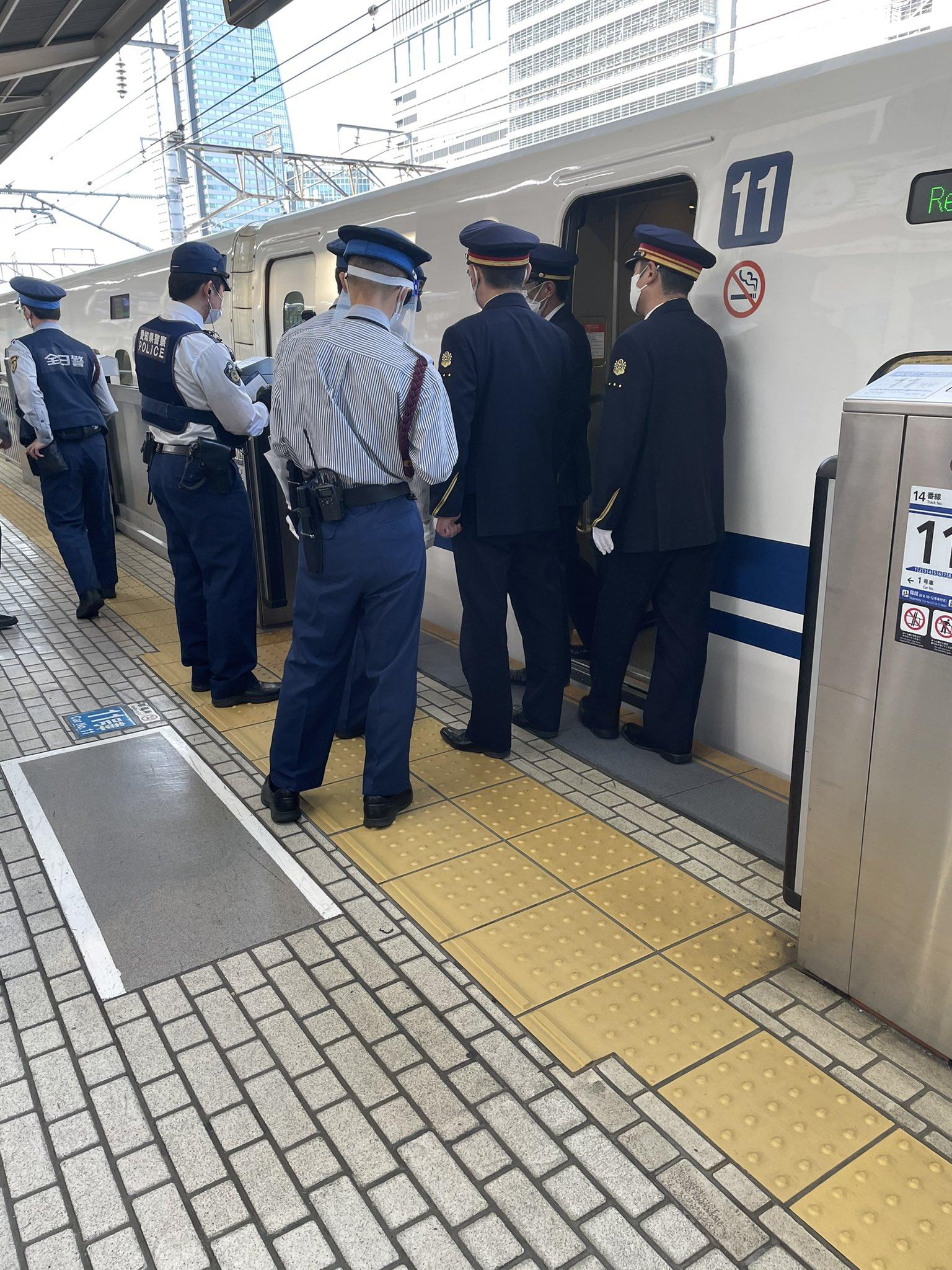 名古屋駅でのコロナ騒ぎの現場の画像