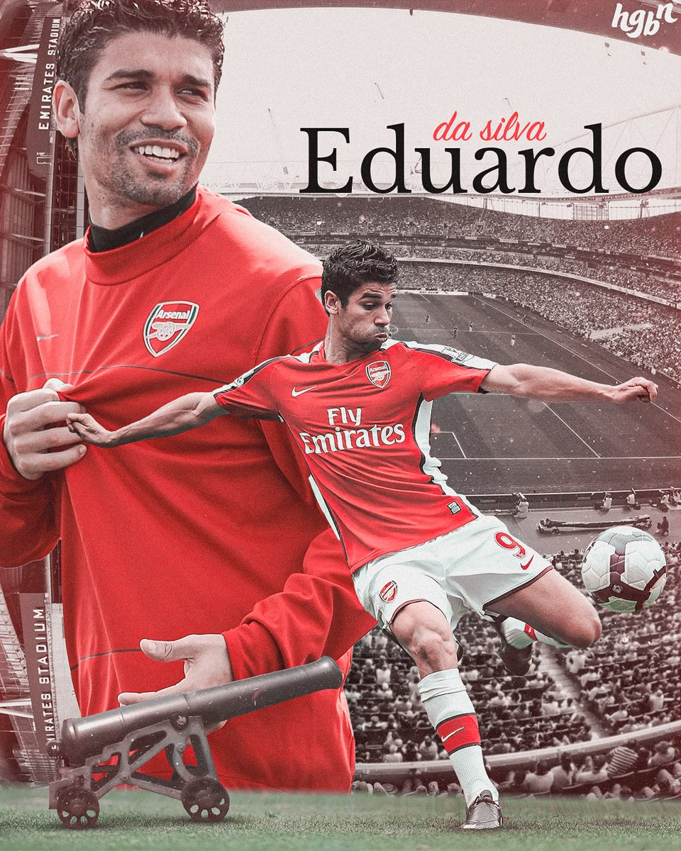 This man didn't have much luck at Arsenal in the end, but he won the fans over with his clynical finishes. @EduardoDaSilva   #smsports https://t.co/thJAuqL2hi