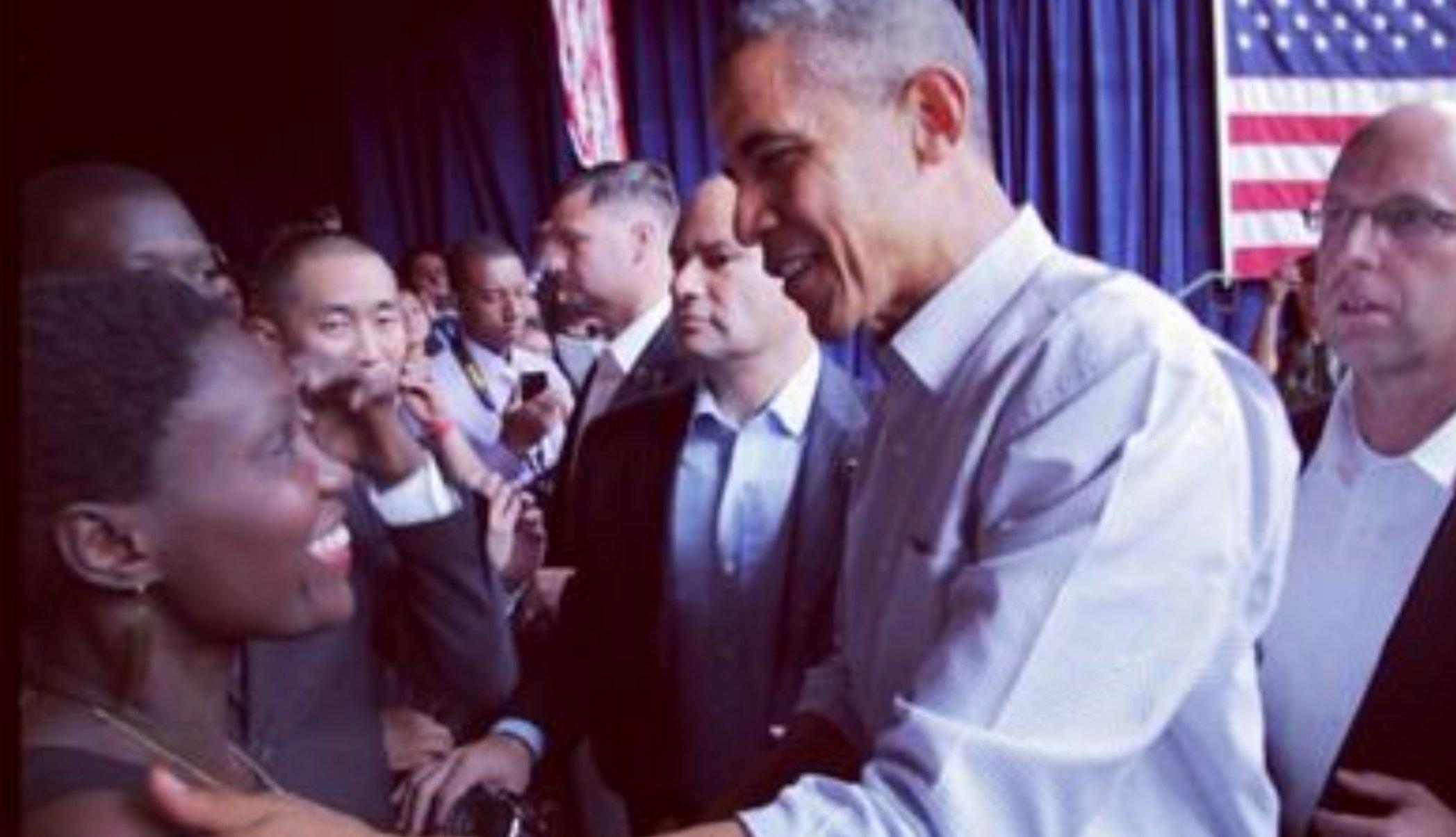 Bloqué par Rokhaya Diallo, VRP du drone-killer Obama