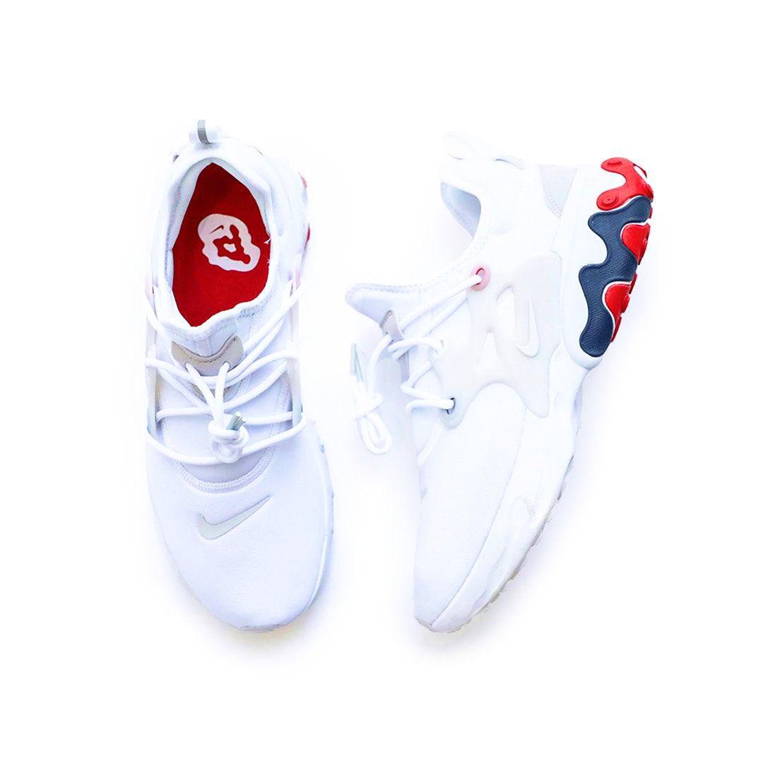 Nike React Presto 'White / University Red' .97 Free Shipping