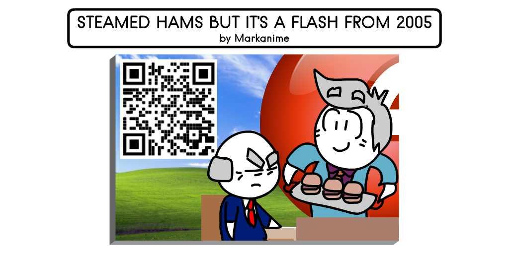A Genuine copy of the full animation of Steamed Hams Meme interpretation as a flash