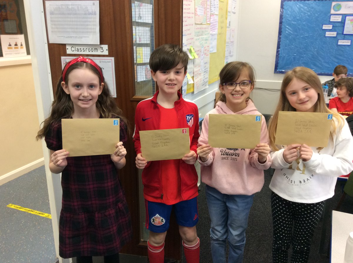 Over the last few weeks, #Year4 have been writing letters to the Prime Minister about helping refugees. They were inspired by our class book 'The Boy at the Back of the Class.' We're hoping for a reply soon!