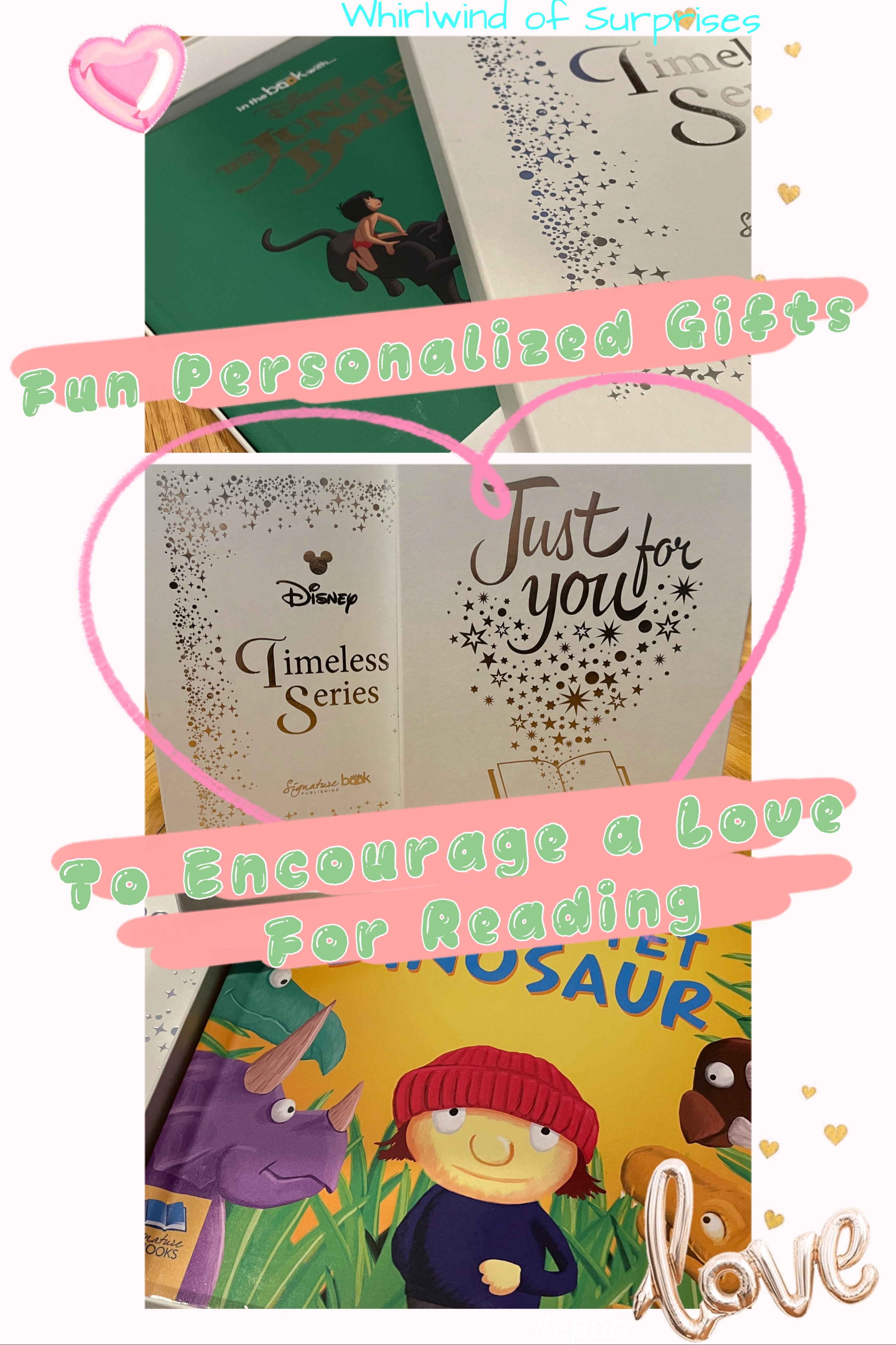 Personalized Disney and Dinosaur Book Gifts for Kids