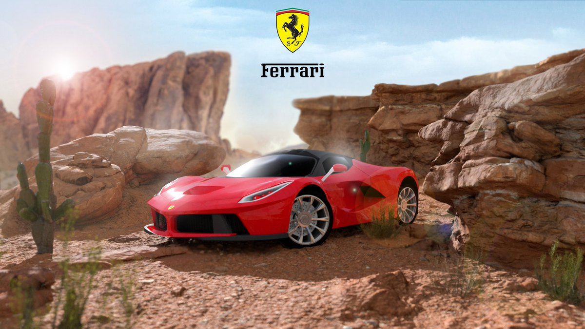 Marlon On Twitter Ferrari Advertisement Poster Decided To Remake An Old Piece Of Mine For Practice Support Is Appreaciated