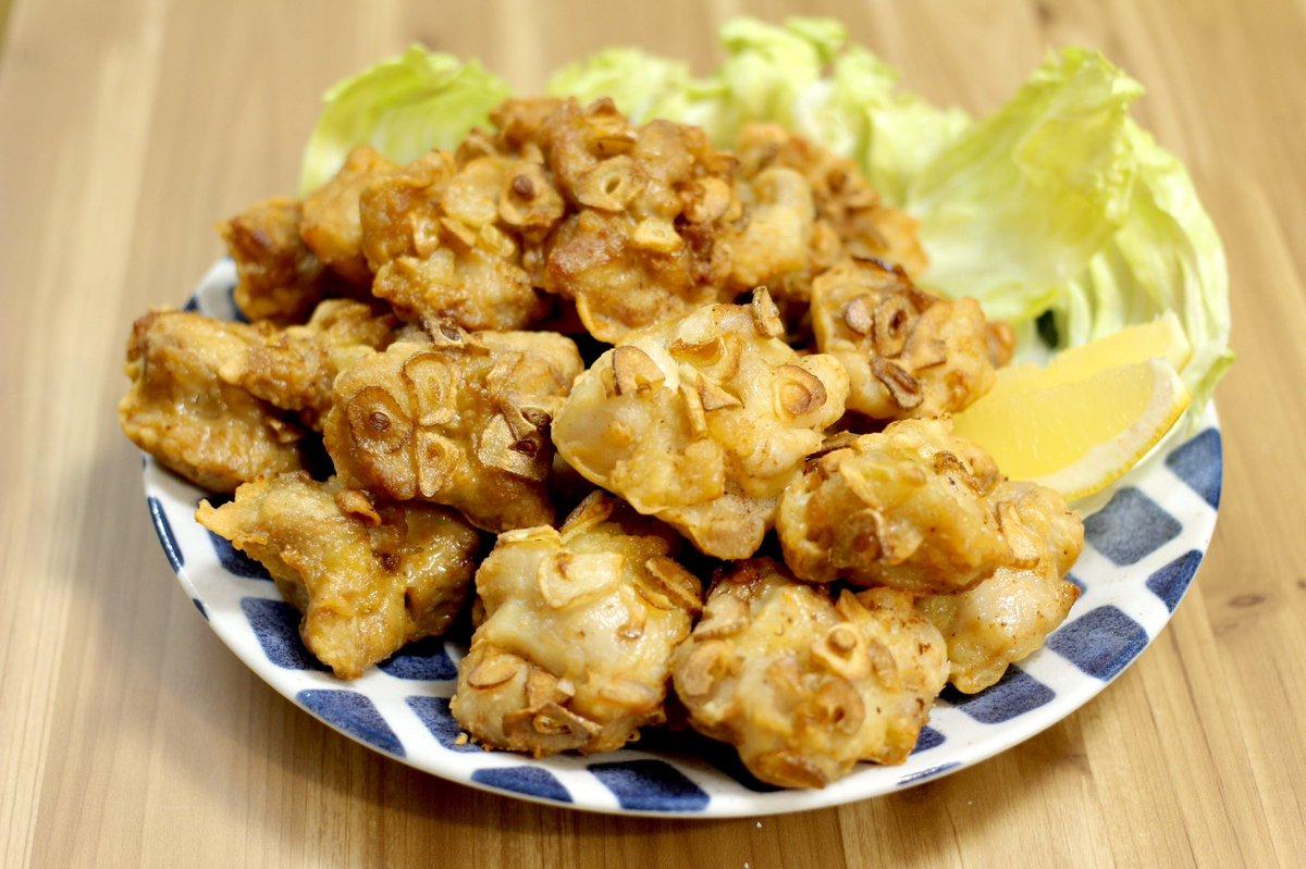 日本人の9割が好きな唐揚げをスライスにんにくをまぶしてみました‼
