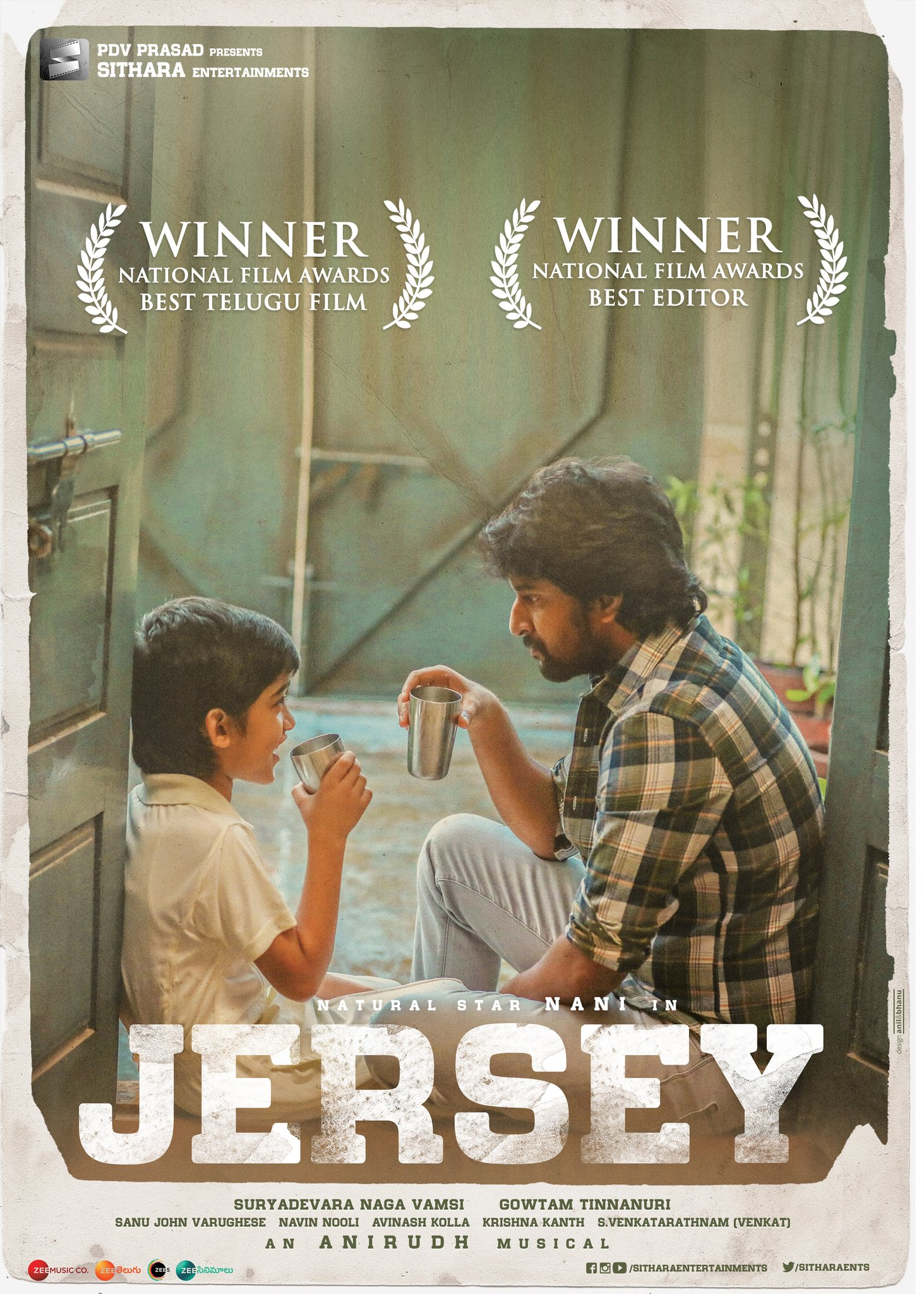 Congratulations for 67 National Film Awards from Tollywood #Jersey  ⭐Best Telugu Film Regional Category ⭐Best Editing - Navin Nooli  #NationalFilmAwards Sithara Entertainment Nani #ManaRadio