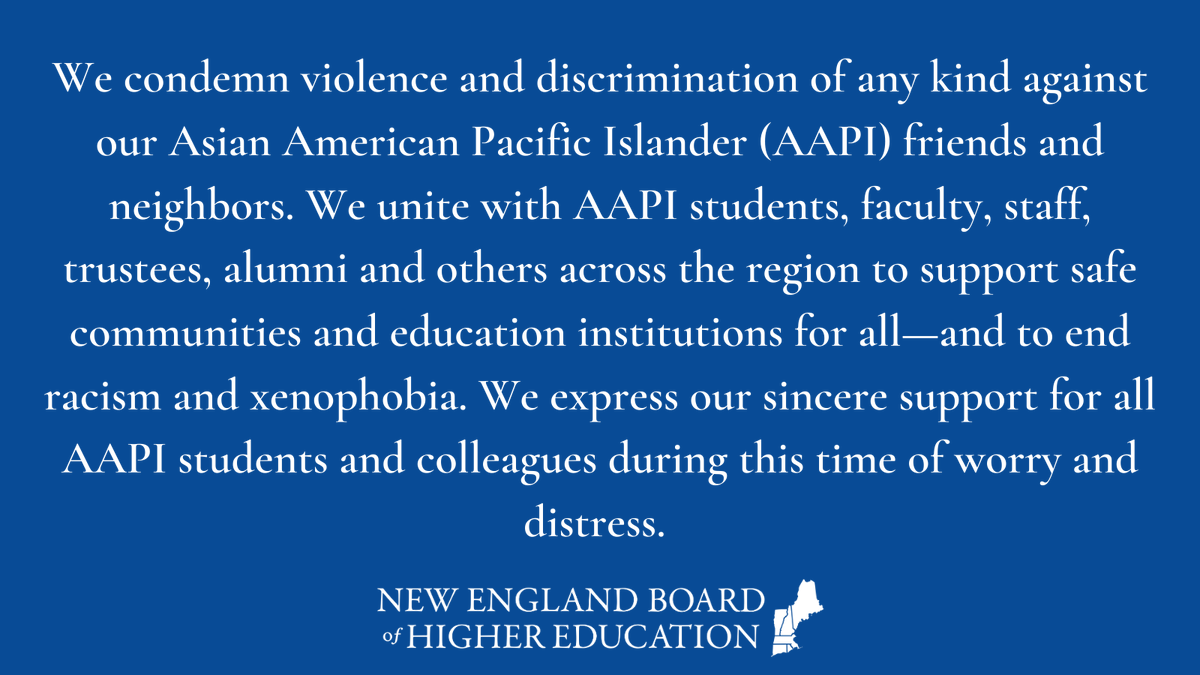 Read @nebhe's statement below. We stand in solidarity with all of our AAPI friends and colleagues. #endasianhate