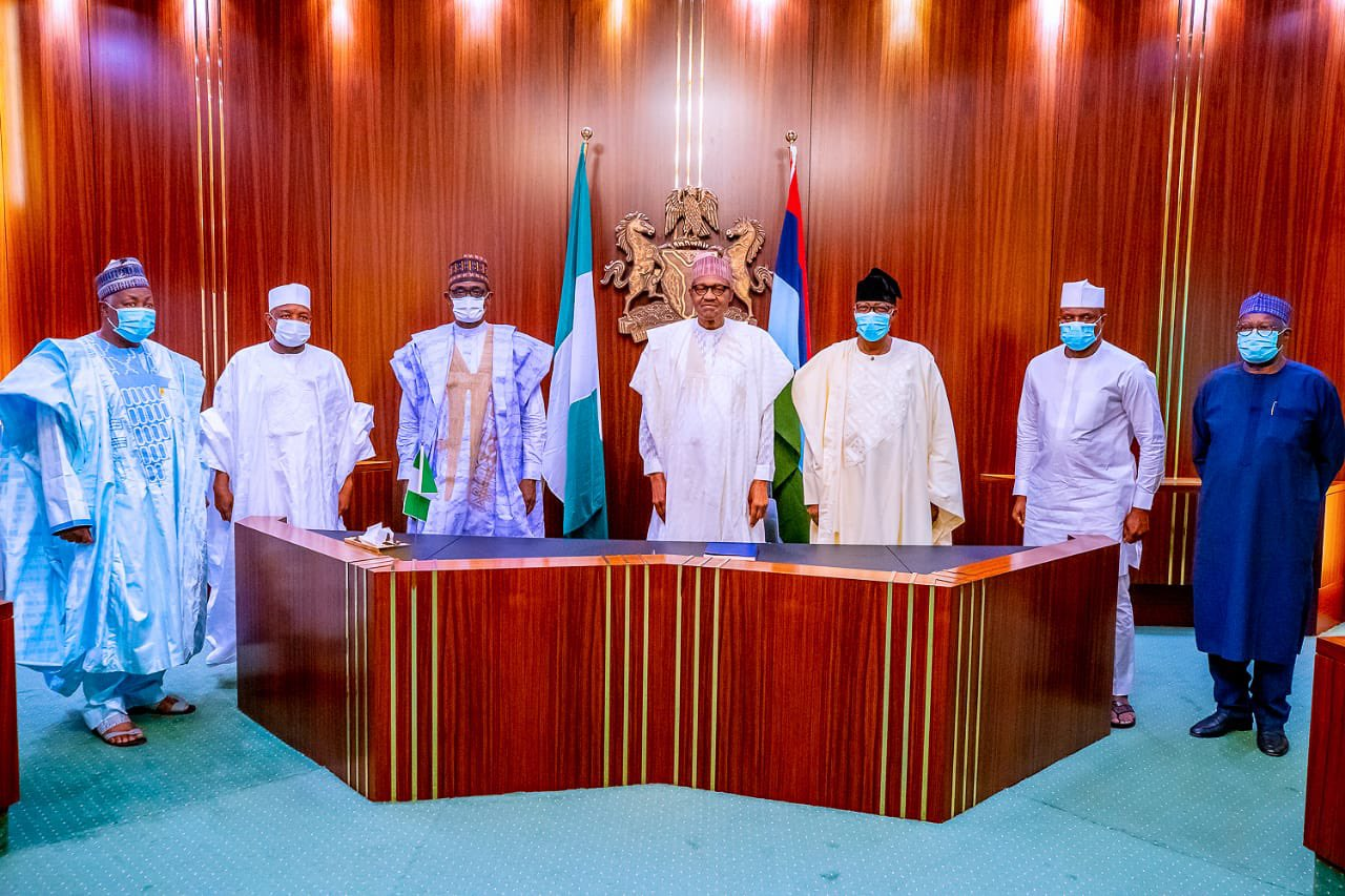 Political Alignment: Gbenga Daniel, Dimeji Bankole Hosted By Buhari At State House