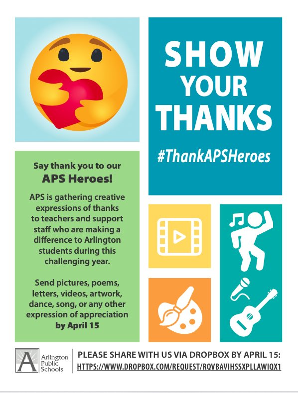 RT <a target='_blank' href='http://twitter.com/APSReady'>@APSReady</a>: How are you showing the <a target='_blank' href='http://twitter.com/APSVirginia'>@APSVirginia</a> staff that your thank them? <a target='_blank' href='https://t.co/tjxYSwJ4Ex'>https://t.co/tjxYSwJ4Ex</a>
