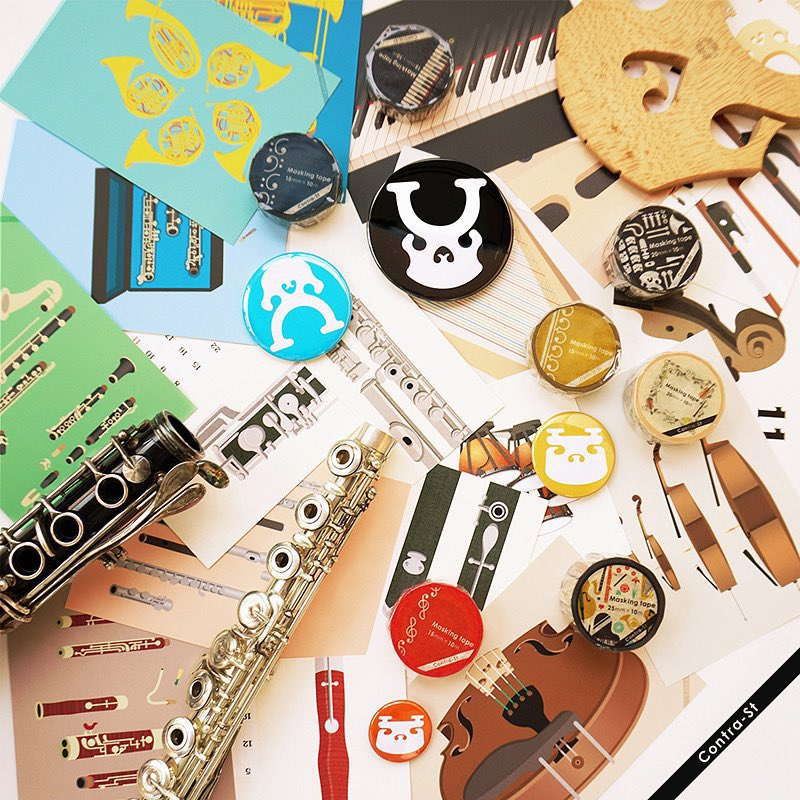 Contra-Stの自己紹介です。クラシック音楽をテーマに、音符や楽器をデザインした雑貨を制作販売しています。デザイナーは趣味でコントラバスを弾いていて、演奏者目線でのものづくりを心がけています #contrastore Web: